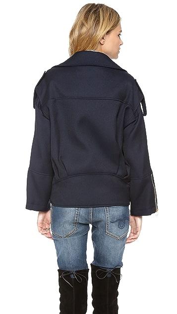 Pierre Balmain Oversized Biker Jacket