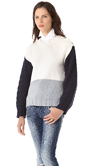 Pierre Balmain Colorblock Sweater