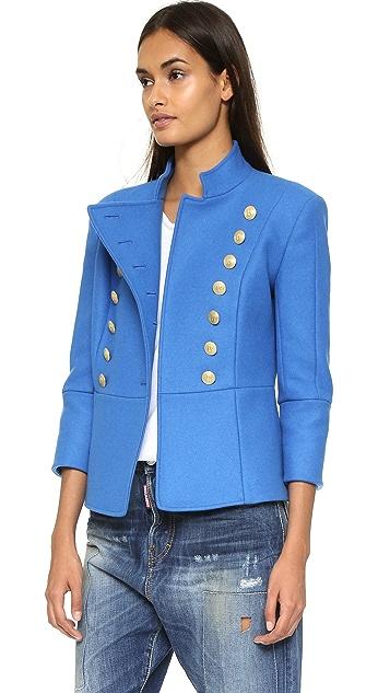 Pierre Balmain High Collar Military Jacket