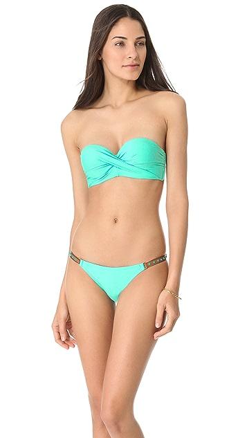 PilyQ Blue Haze Bandeau Bikini Top