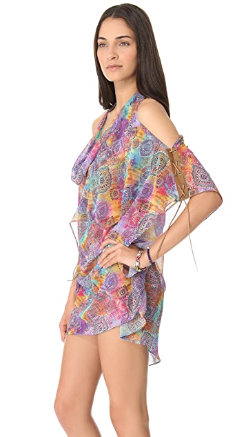 PilyQ Tibet La Di Da Cover Up Dress
