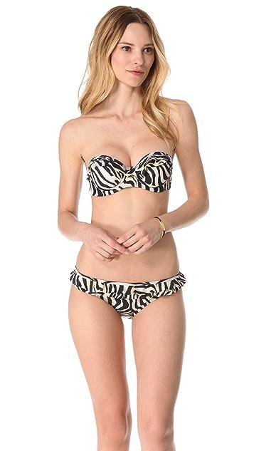 PilyQ Simba Babydoll Bandeau Bikini Top