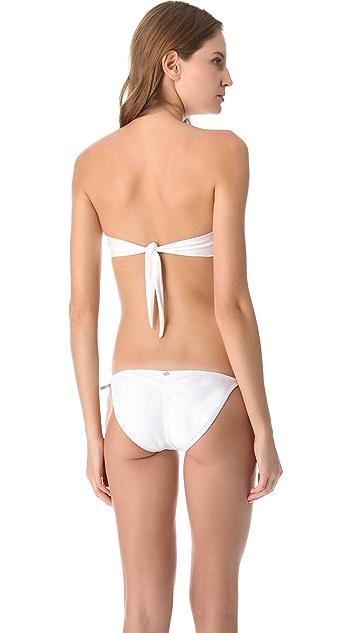PilyQ Spa White Bandeau Bikini Top