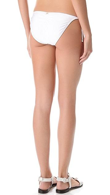 PilyQ Spa White Tie Bikini Bottoms