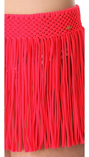 PilyQ Fringe Skirt Cover Up