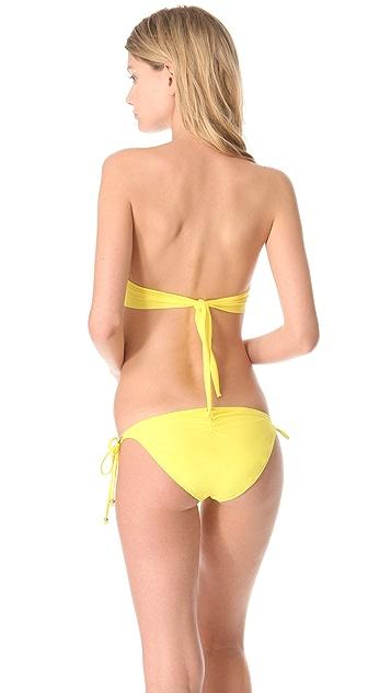 PilyQ Dandelion Eyelet Bikini Top