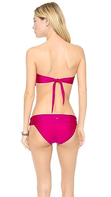 PilyQ Berry Bliss Eyelet Bandeau Bikini Top