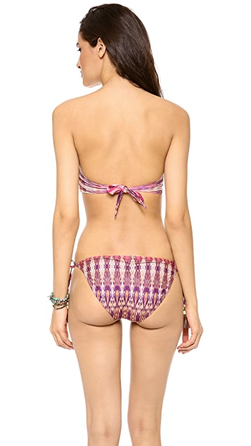 PilyQ Bohemian Rhapsody Bandeau Bikini Top