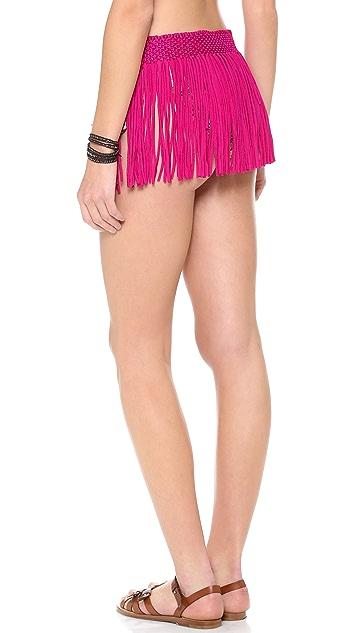 PilyQ Berry Bliss Fringe Skirt