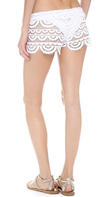 PilyQ Bahamas White Shorts