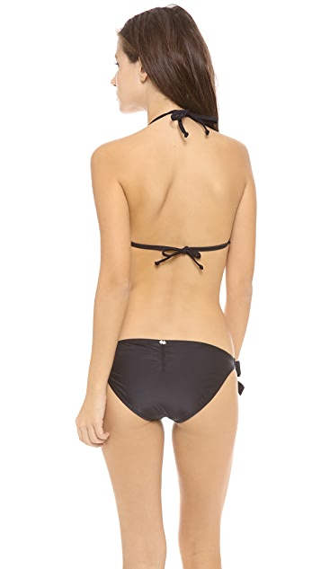 PilyQ Jet Black Bikini Top