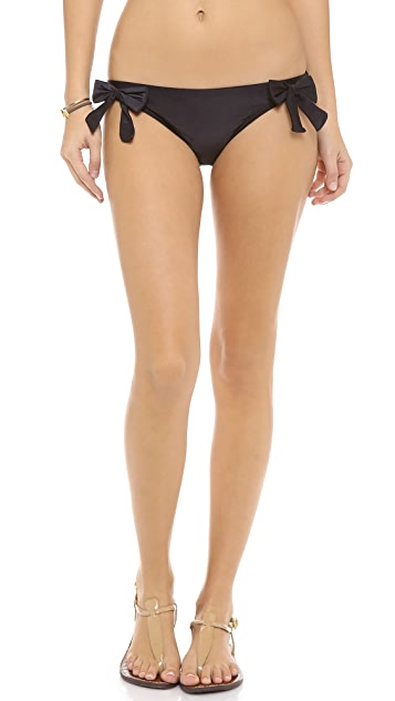 PilyQ Jet Black Bikini Bottoms