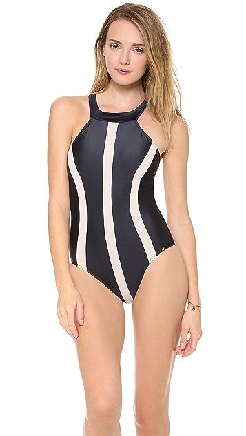 PilyQ Jet Black One Piece Swimsuit