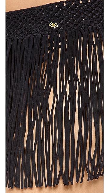 PilyQ Fringe Skirt Cover Up