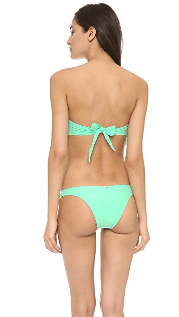 PilyQ Laser Underwire Bandeau Bikini Top