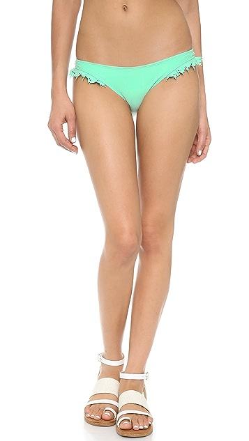 PilyQ Laser Ruffle Bikini Bottoms
