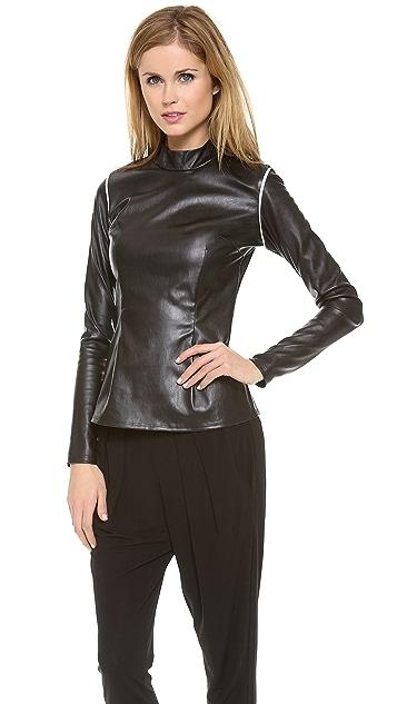 Piper Gore Untouchable Leather Turtleneck