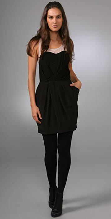 Plastic Island Noir Cocktail Dress