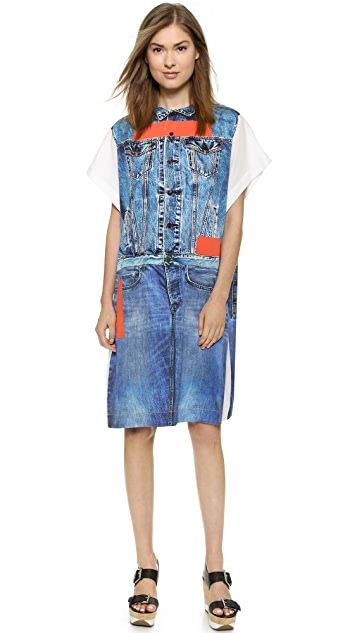 Preen Line Alba Denim Print Dress