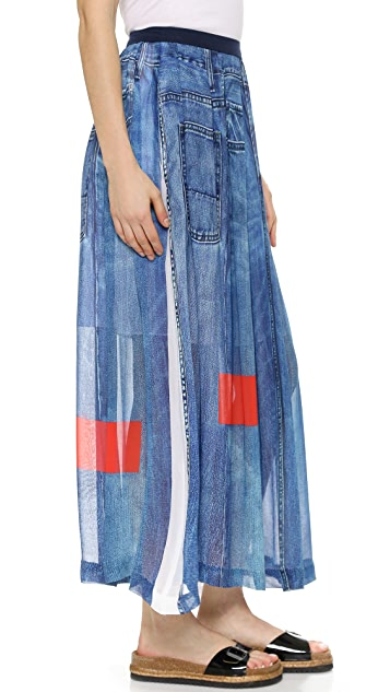 Preen Line Celina Denim Skirt