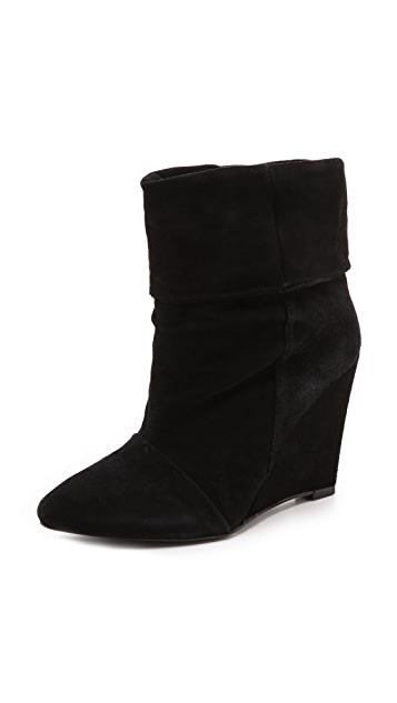 Plomo Dominique Suede Wedge Booties