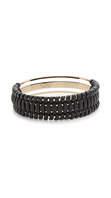Pluma Small Woven Leather Bangle Bracelet