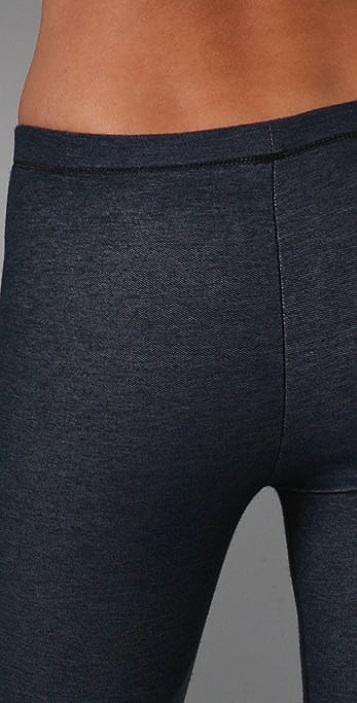 Plush Fleece Lined Denim Jersey Leggings