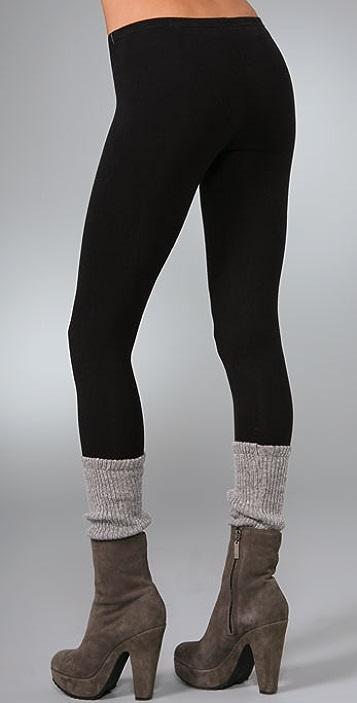 Plush Legwarmer Leggings
