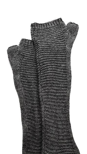 Plush Waffle Knit Arm Warmers