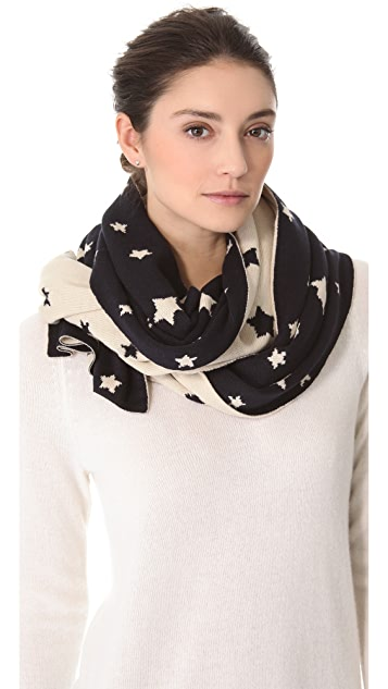 Plush Star Knit Reversible Scarf