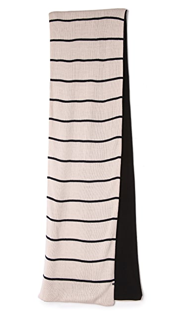 Plush Striped Fleece Lined Scarf