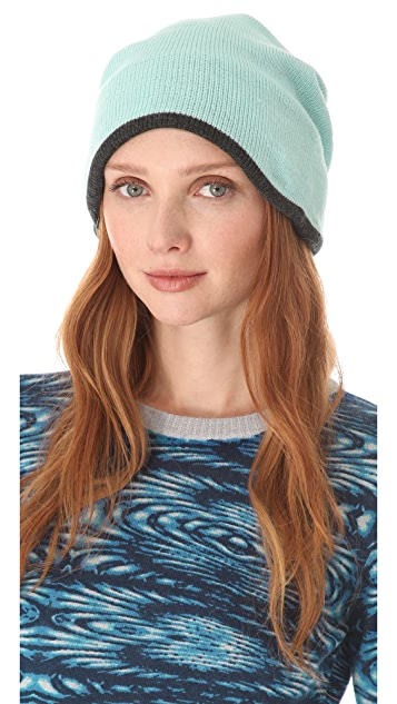 Plush Two Tone Barca Slouchy Hat