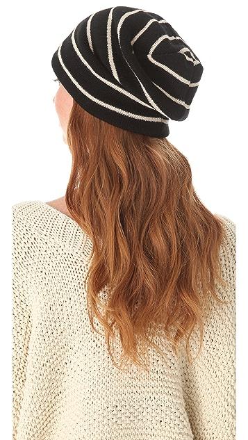 Plush Striped Barca Slouchy Hat