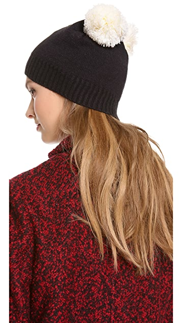 Plush Pom  Ear Hat
