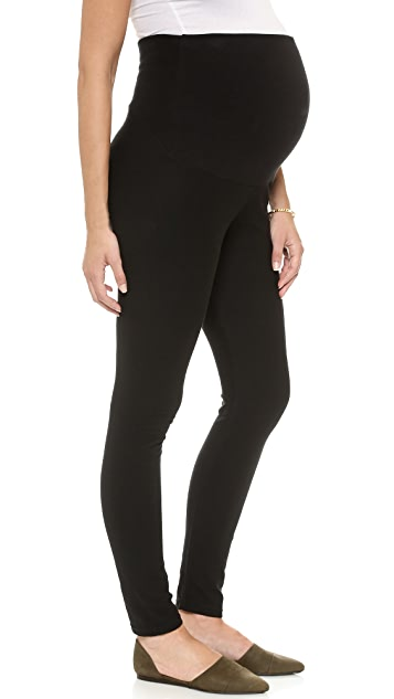Plush Fleece Lined Maternity Leggings