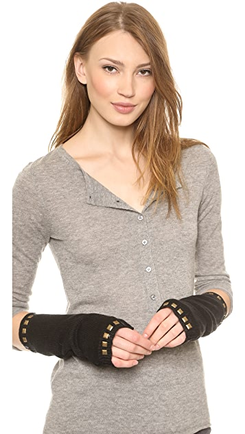Plush Studded Arm Warmers