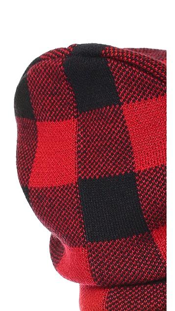 eacbea018 Fleece Lined Plaid Beanie