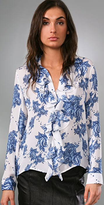 Pencey Ruffle Front Blouse