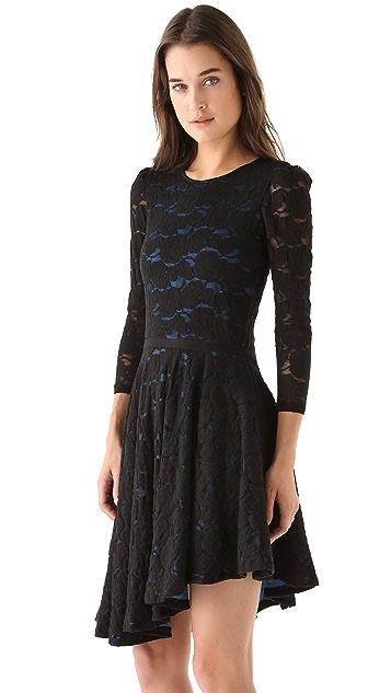 Pencey Lace Asymmetric Dress