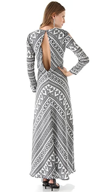 Pencey Chevron Maxi Dress