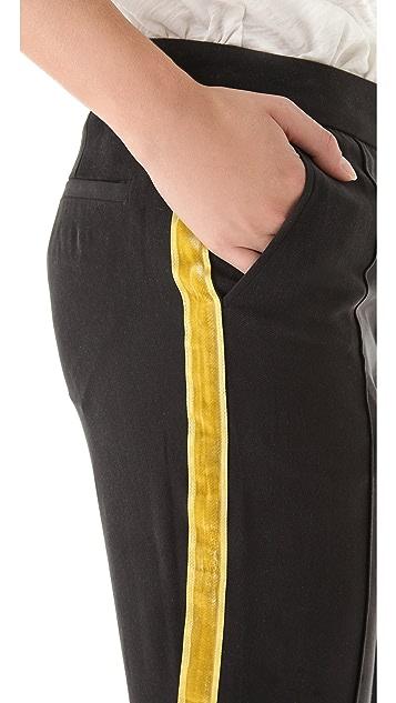 Pencey Velvet Stripe Pants