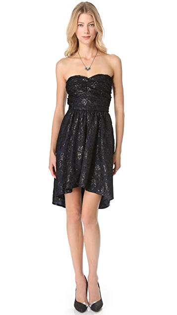 Pencey Lace Strapless Dress