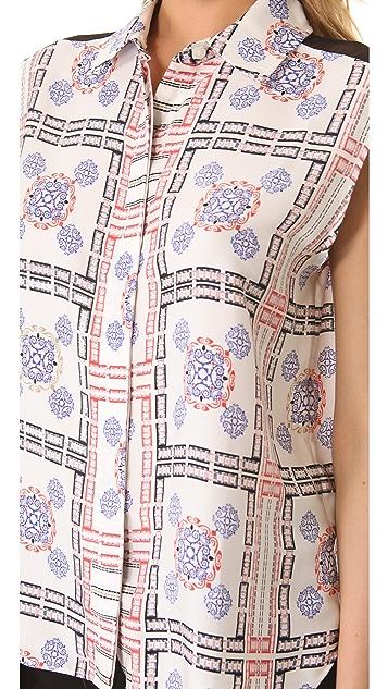 Pencey Tile Print Blouse