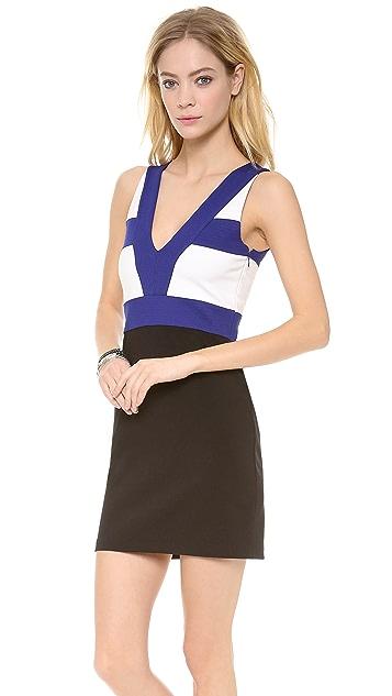 Pencey Team V Neck Colorblock Dress