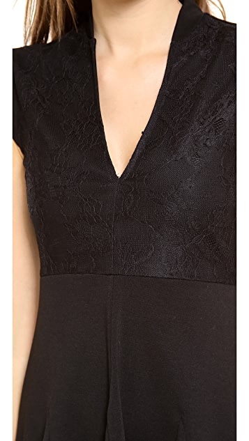 Pencey Deep V Lace Dress