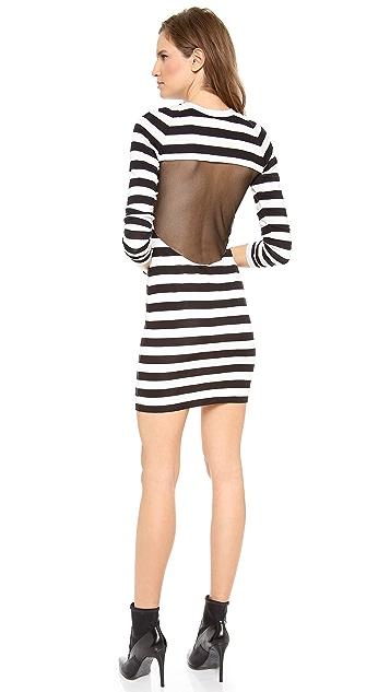 Pencey Mesh Back Stripe Dress