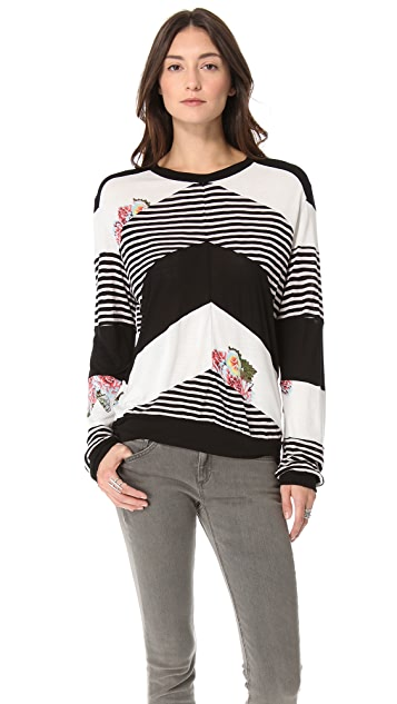 Pencey Standard Chevron Long Sleeve Top
