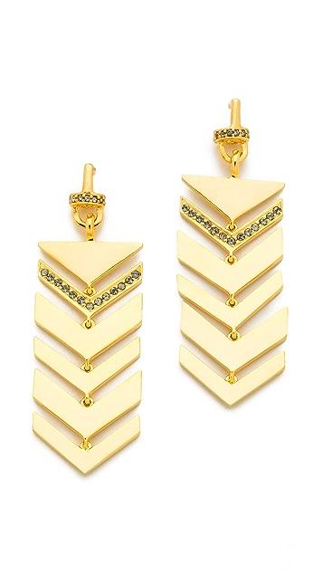 Paige Novick Short Multi Arrow Motif Earrings
