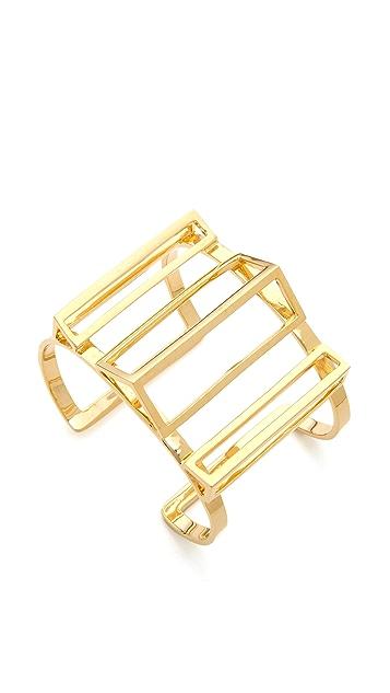 Paige Novick Claire Collection 3D Geometric Open Cuff Bracelet
