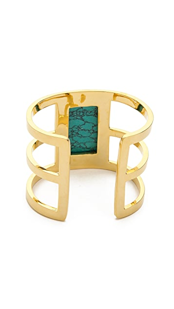 Paige Novick Isabelle Collection 3 Row Cuff with Stone Inset